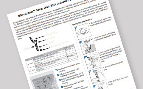 MicroCollect Saliva DNA/RNA Collection Device User Instructions