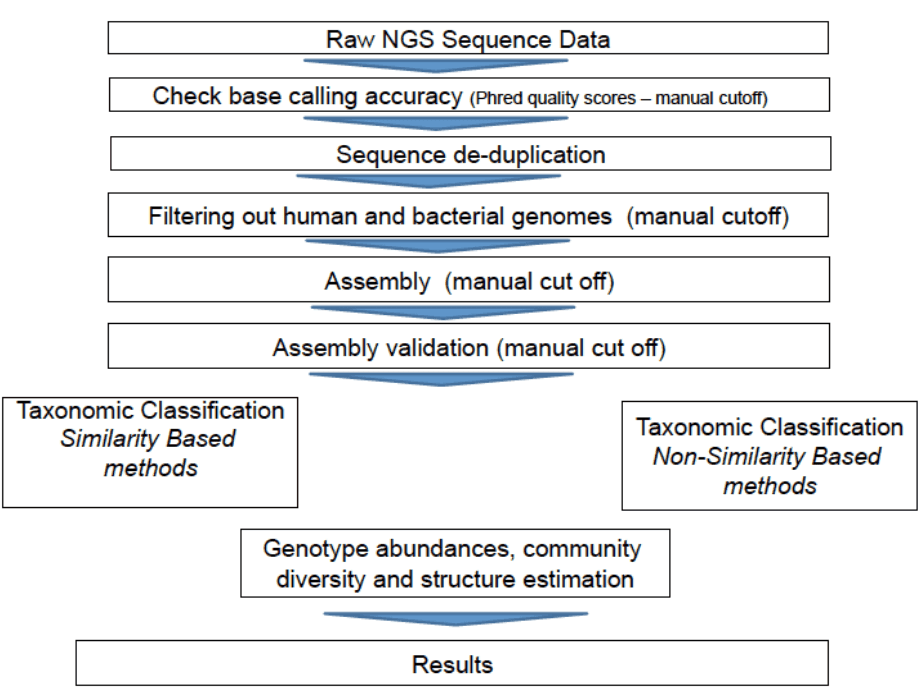 Bioinformatics pipeline for viral metagenomics